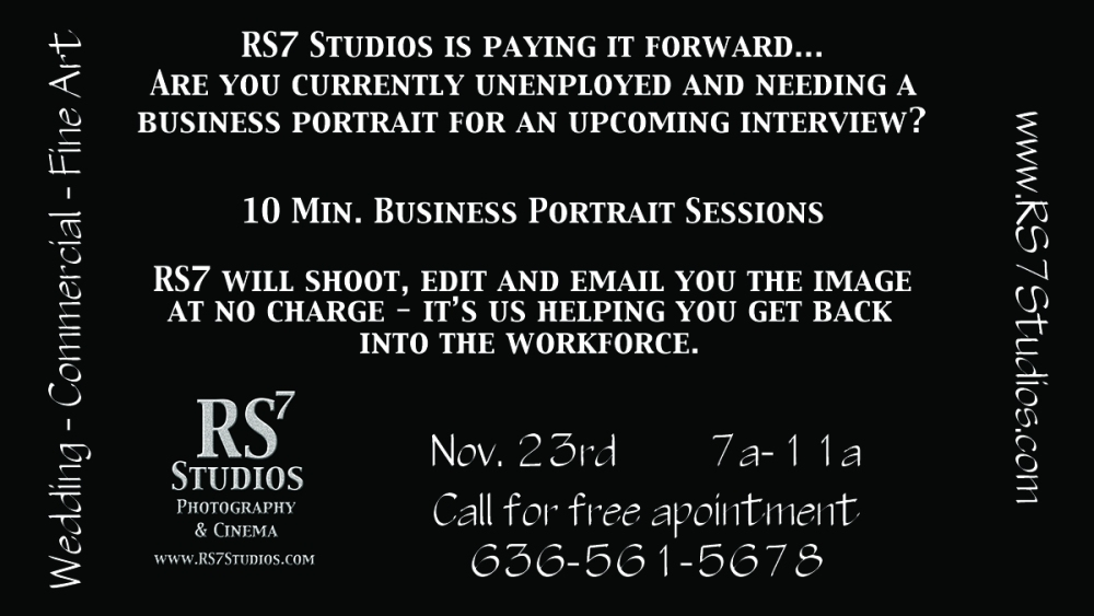 Business Portrait Sessions for Unemployed
